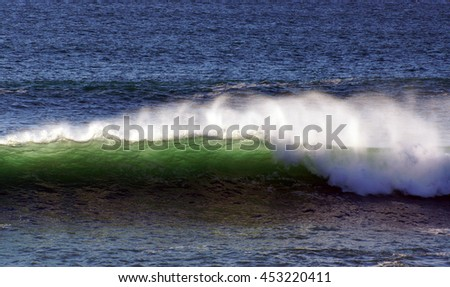 Pacific Ocean Waves - stock photo