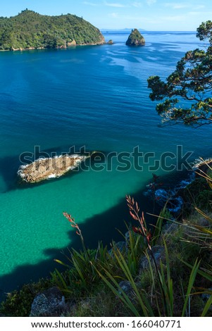 Pacific Sea Coast, Coromandel Peninsula, North Island, New Zealand - stock photo