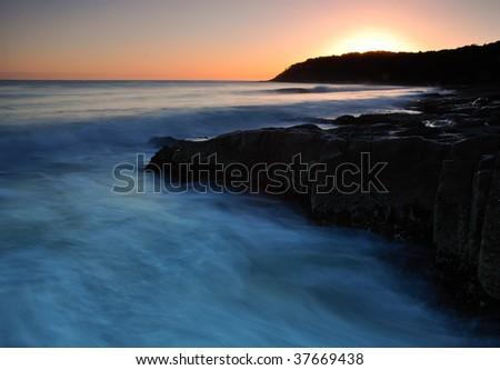 Pacific sunrise - stock photo
