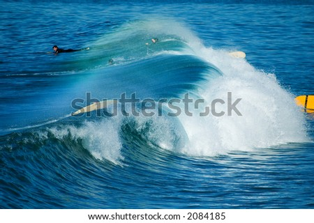 Pacific surfers - stock photo