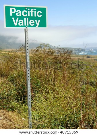 Pacific Valley sign