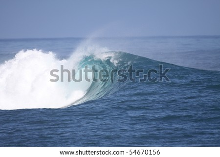 pacific wave - stock photo