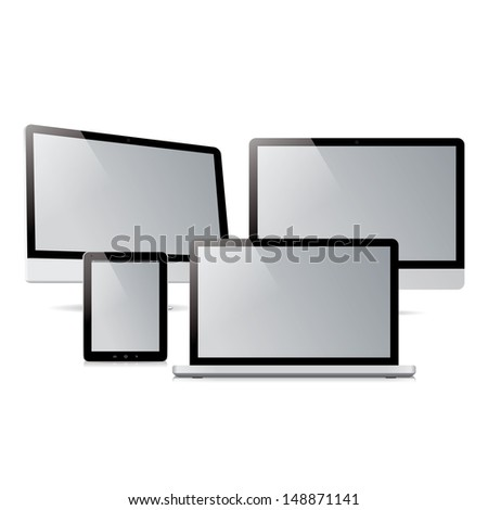 pack computer tablet electronic devices - stock photo