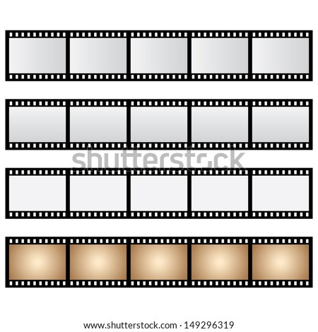 pack film strip isolated - stock photo