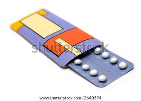 Pack of Birth Control Pills - stock photo