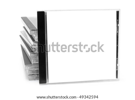 Pack of boxes from disks isolated on white background