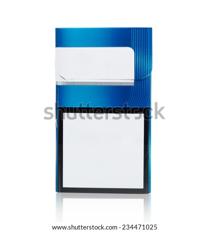 pack of cigarettes on a white background - stock photo
