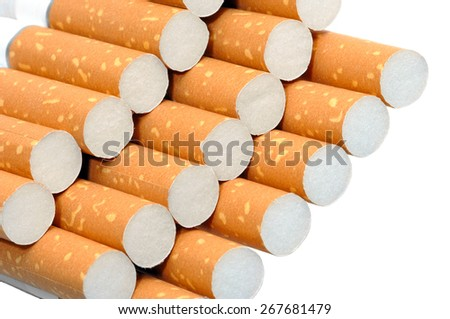 Pack of cigarettes unhealthy life style concept - stock photo