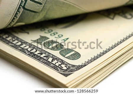 pack of dollars. - stock photo