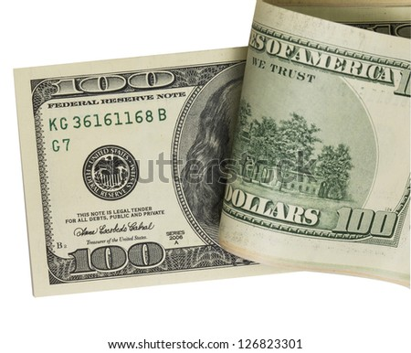 pack of dollars. (with clipping path) - stock photo