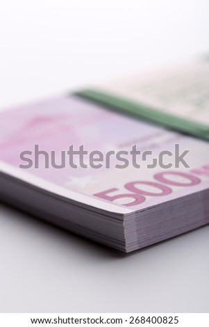 Pack of euros - stock photo