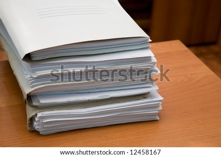 Pack of paper documents