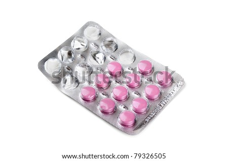 pack of tablets isolated on a white background