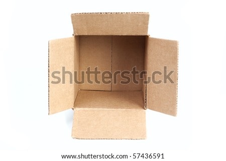Package box isolated on white background