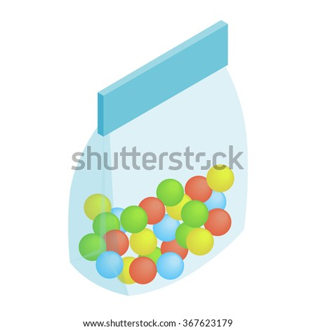 Package candy isometric 3d icon isolated on a white background - stock photo