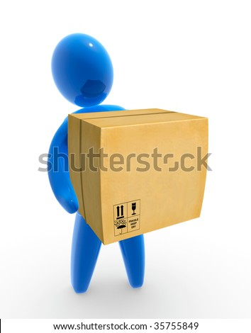 Package Delivery - stock photo