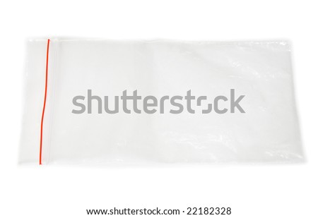 Package for evidence on white background - stock photo