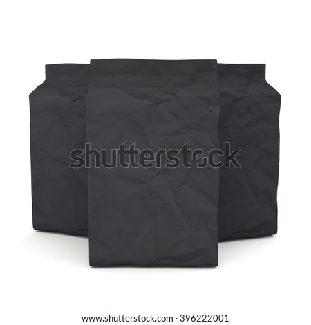 Package mock up 3D rendering on white background