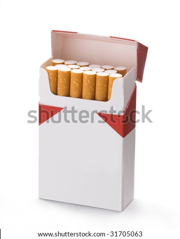 package of cigarettes - stock photo
