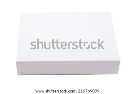 Package white box isolated on white - stock photo