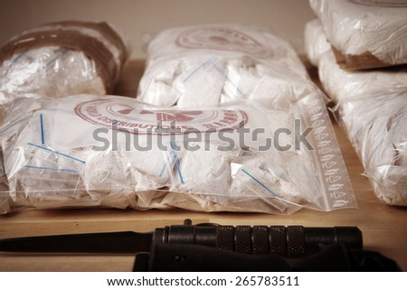 Packages of drugs - stock photo