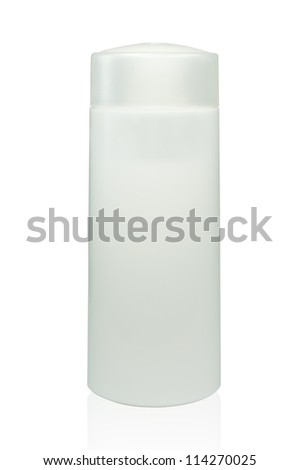 Packaging Cosmetic bottles on a white background, - stock photo
