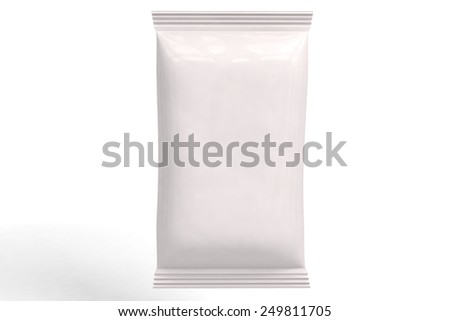 Packaging 3D white - stock photo