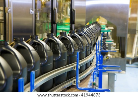 Packaging line - stock photo