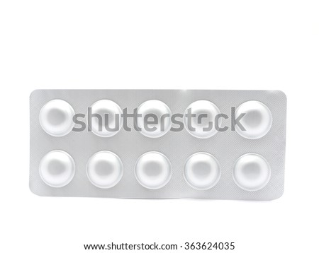 packaging of tablets on a white background