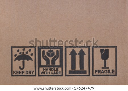 Packaging symbols - stock photo