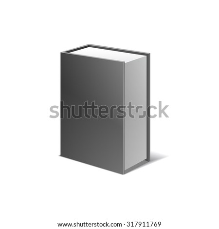 packing box for bottle illustration isolated on white background