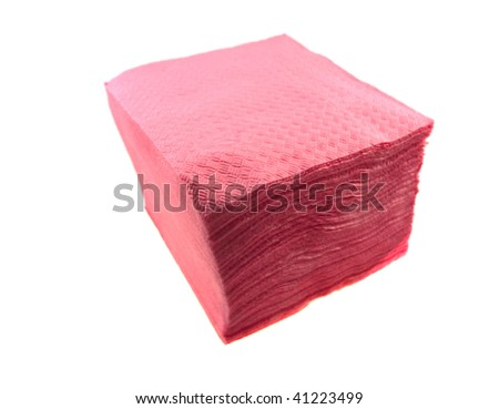Packing of paper napkins isolated on a white background - stock photo
