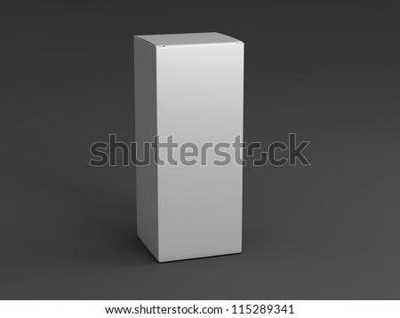 Packing on a black background standing upright one - stock photo