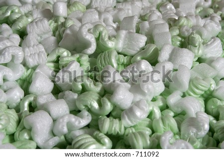packing peanuts - stock photo