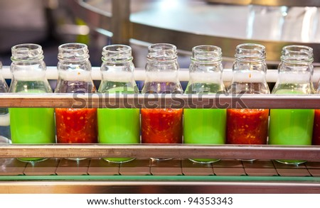 Packing plant in the bottle. - stock photo