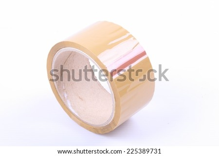 Packing tapes on white background - stock photo