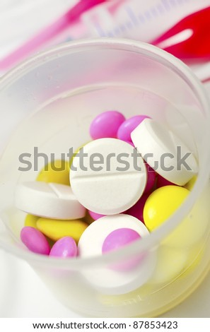 Packs of different pills