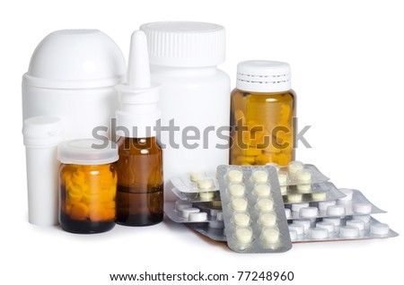 Packs of pills - abstract medical - stock photo