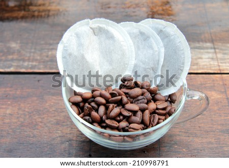 pad coffee - stock photo