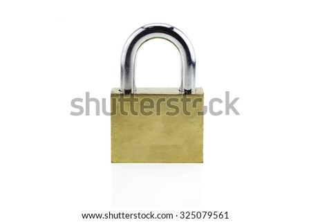 Pad lock isolated on white background