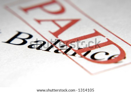 Pad stamped over balance - stock photo