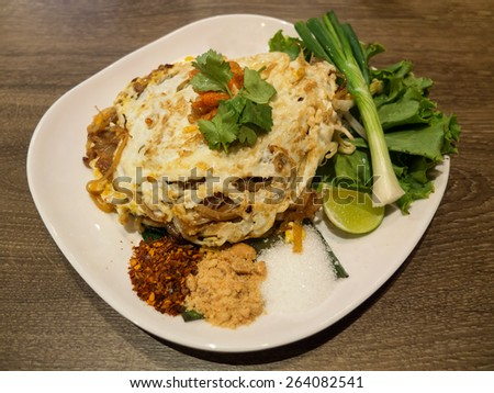 Pad Thai Thailand spicy food - stock photo