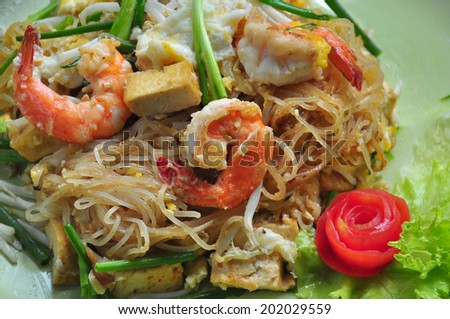 Pad Thai, Thailand traditional food  - stock photo