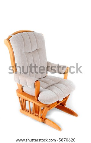 Padded Rocking Chair - stock photo