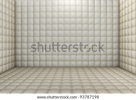 padded room - stock photo