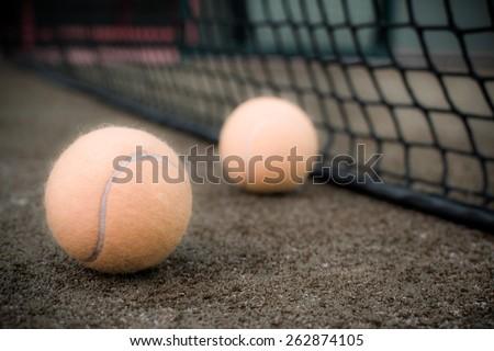 paddle balls vintage - stock photo