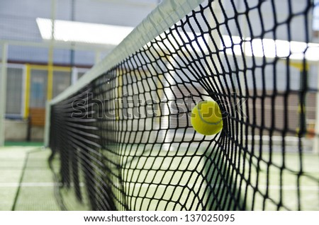 Paddle fail. Bad shot going to net. - stock photo