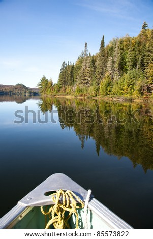Paddling on the Carpenter lake, Canada - stock photo