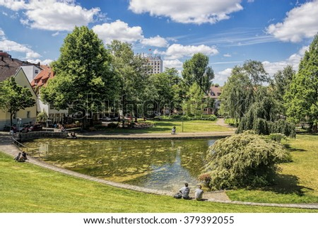 Paderborn headwaters - stock photo