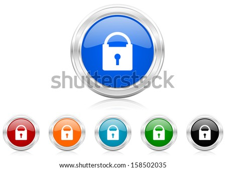 padlock icon - stock photo